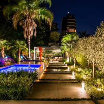 Iluminação Área Externa em Santos